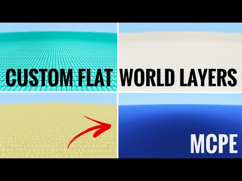 How to Make Custom Flat World Layers in MCPE [No Mods] [Android]
