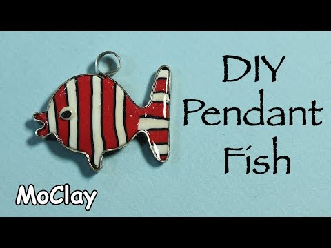 DIY Pendant Fish - Polymer clay tutorial