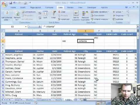 Excel Video 37 Advanced Table Filtering