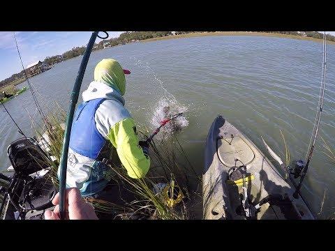 Sick SURPRISE Catch! South Carolina Inshore Redfish Fishing pt.1