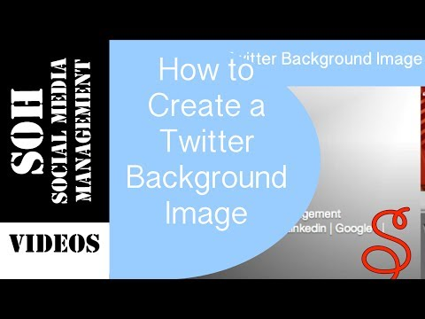 Twitter Tutorial - How to Create a Twitter Background Image