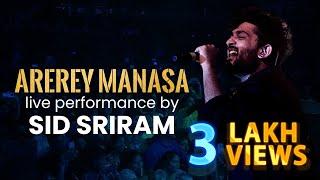 Arerey Manasa | Sid Sriram Live In Concert - Hyderabad | Red FM Telugu