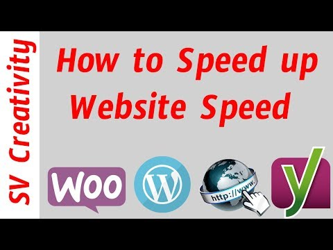 How to Speed Up Website Within Seconds || SV Creativity