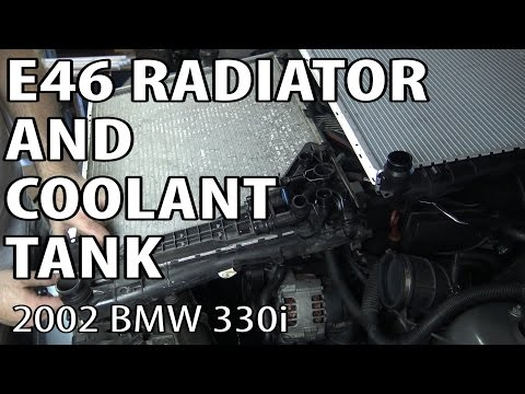 BMW E46 Radiator and Coolant Expansion Tank Replacement