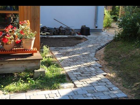 Brick Paver Installation -  green area