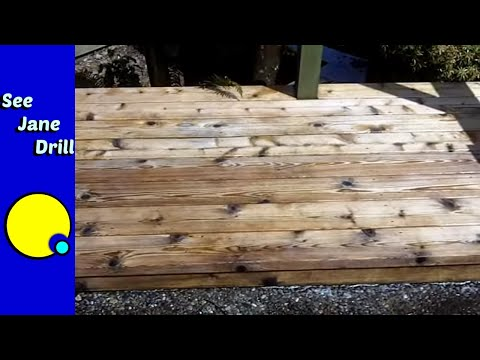 Simple Easy DIY Deck Cleaning Solution