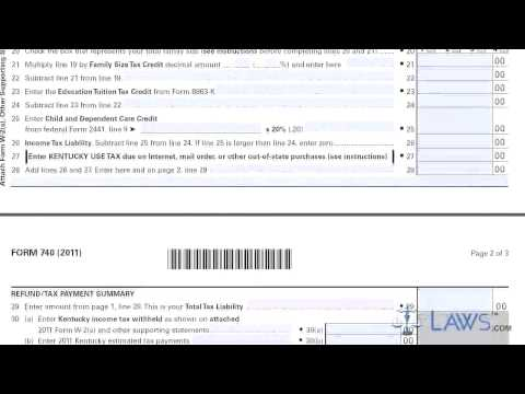 Form 740 Kentucky Individual Income Tax Return Resident