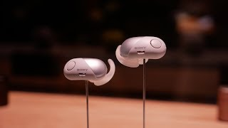 Sony WF SP700N true wireless earphones hands-on