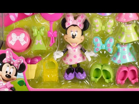 Minnie Mouse Dress Up Plastic Fashion Kit Bow-Tique Deluxe Playset - Fairy Princess Disney Toy