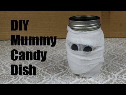 Mummy Mason Jar Candy Dish