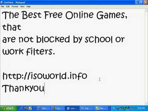 Game Site Not Blocked by Filters