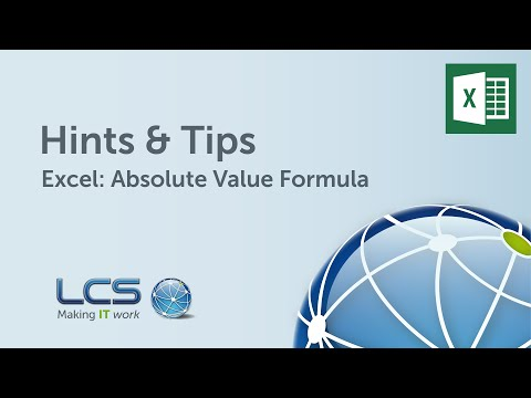 Microsoft Excel: Absolute Value Formula | Hints & Tips | LCS Group