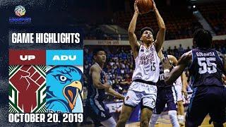 UP Vs AdU October 20 2019 Game Highlights UAAP 82 MB