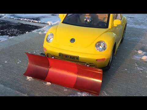 New Bright 1:6 RC Volkswagen Beetle Bug w/ Homemade Snow Plow