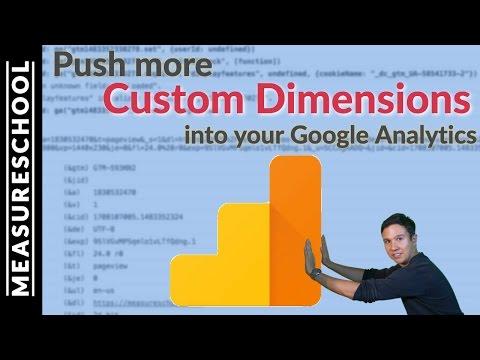 Get more Google Analytics Custom Dimensions #measure