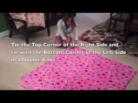 Easy No Sew Fleece Tie Blanket