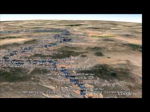 Colorado River entire flyover in Google Earth