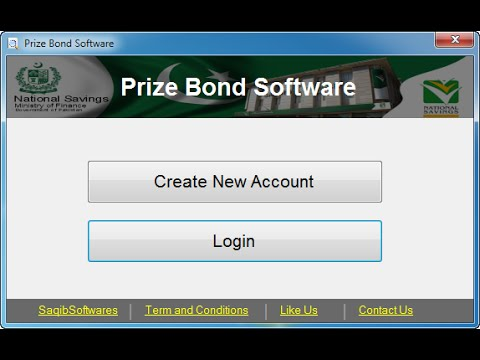 Pakbond - Prize Bond Searching Software (windows + android)