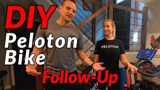 $400 DIY PELOTON BIKE Follow-up // Sunny Bike, Wahoo Cadence Sensor, and the Peloton App