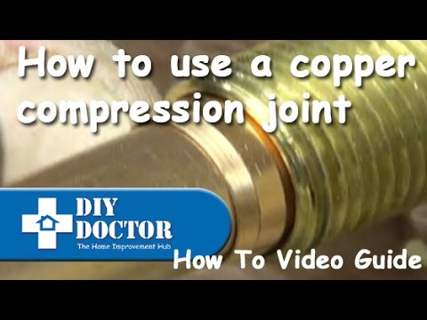 How to use a copper compression joint