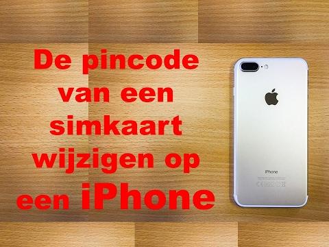 De pincode van een simkaart wijzigen op een iPhone