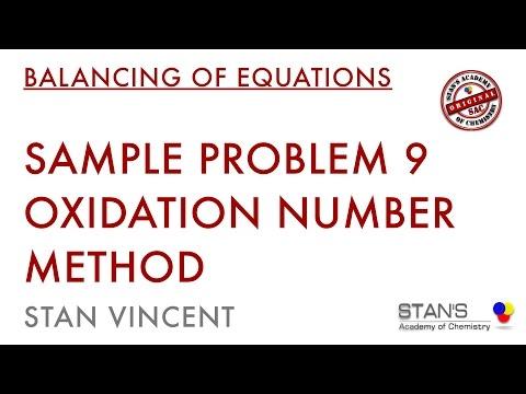 Balancing of Equation | Oxidation Number Method | Redox Reactions Sample Problem