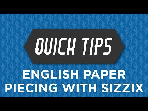 Violet Craft Sizzix English Paper Piecing Quick Tip