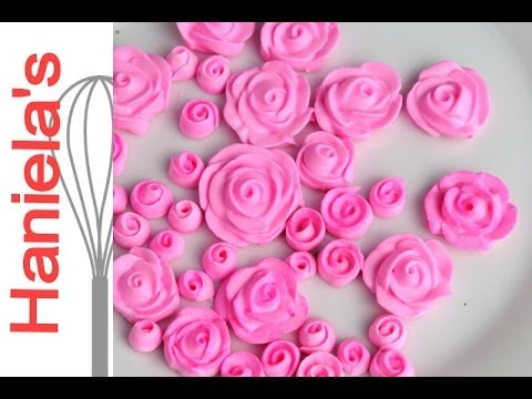 How To Make Mini Royal Icing Roses