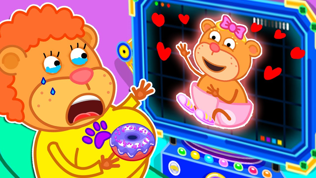 Lion Family | Funny Stories for Kids About Mommy Is Pregnant | Cartoon for Kids