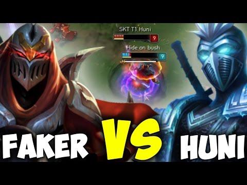 Faker Zed vs Huni Shen ( Who Will Win? ) - Faker SoloQ Playing Zed Toplane In Challenger Korea