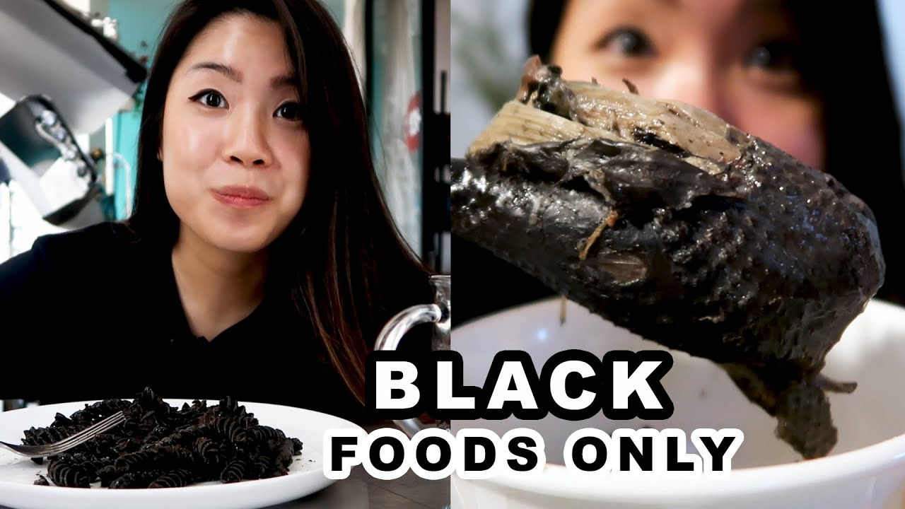 I Only Ate Black Foods For 24 Hours
