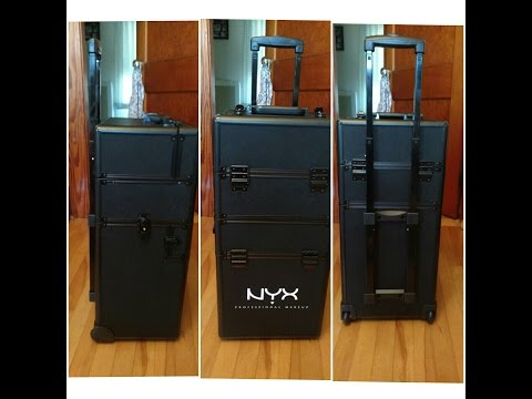 Unboxing NYX Pro Freelance Makeup Rolling Train Case