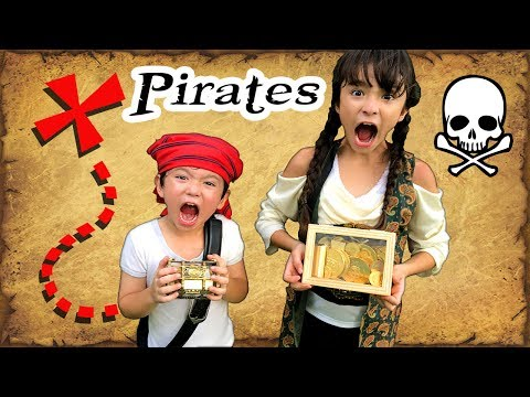 Pirate Treasure Hunt - We search for Chocolate Gold in Treasure Chests
