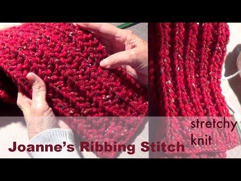 Knitting with Ribbing Stitch | Joanne's Stitch Pattern