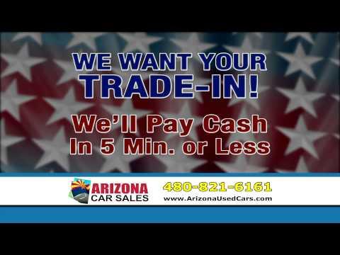 Get cash for your car in 10 minutes or less at Arizona Car Sales in Mesa, Arizona!