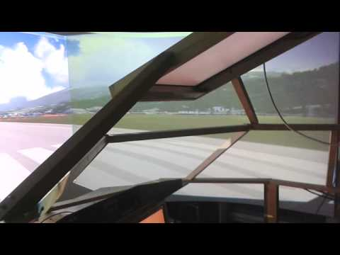 cheap diy home build cockpit running on single pc with old projectors !!!