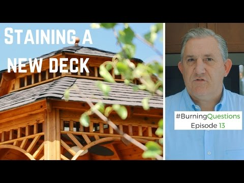 Staining a New Deck | Deck Staining Contractors in Naperville