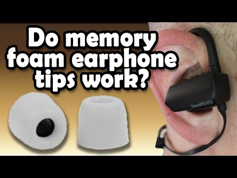 Memory Foam Earbud Tips (Amazon Review)