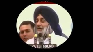 sukhbir badal funny speech about railway barrier in punjabi