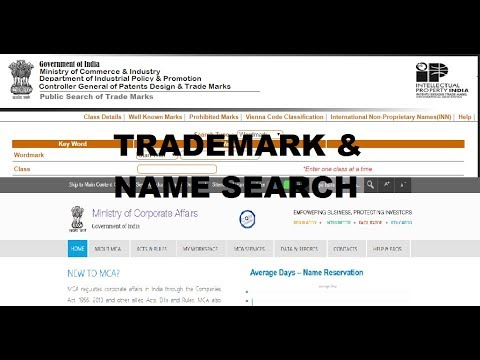 Check the company name availability with MCA and trademark search before incorporating a company.