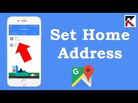 How To Set Your Home Address Google Maps iPhone