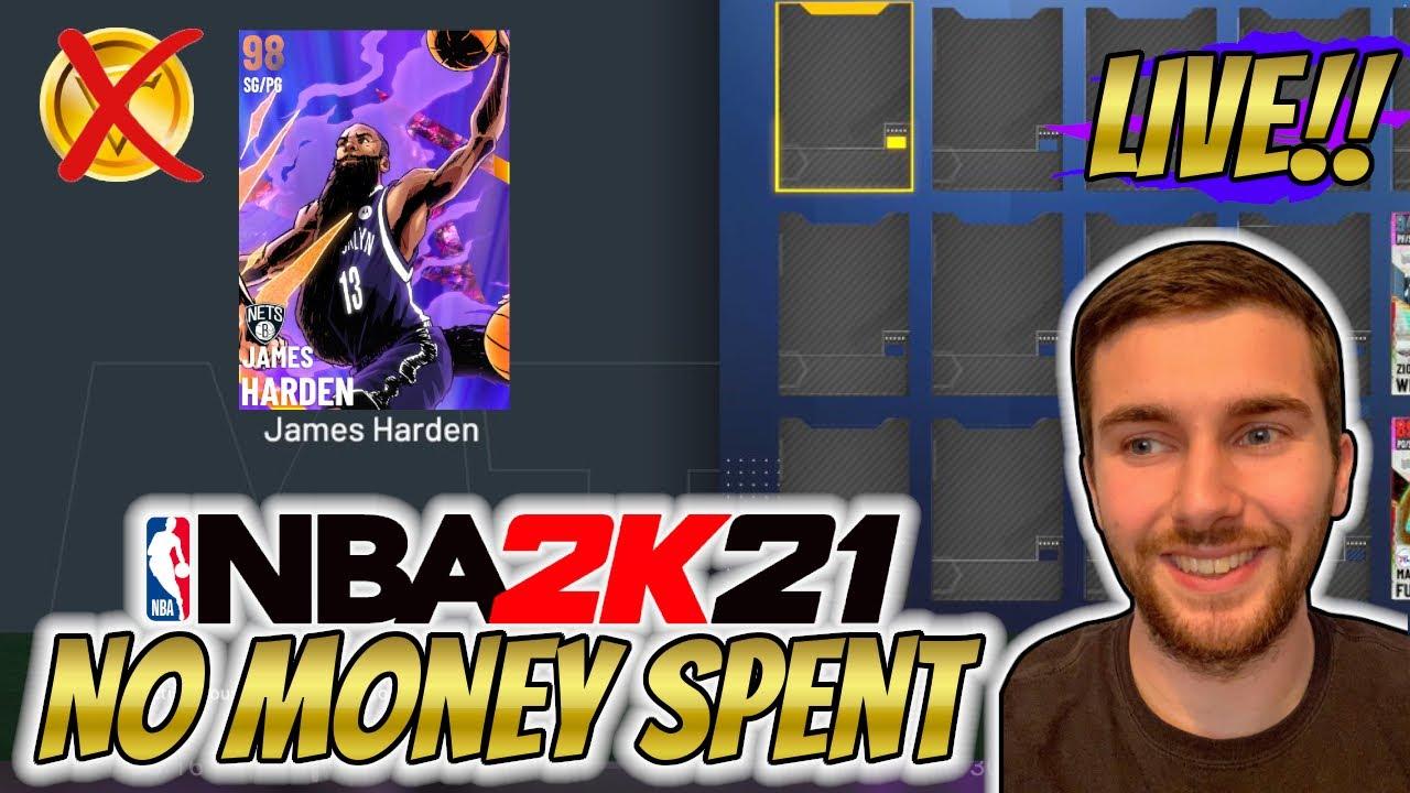NBA 2K21 MYTEAM *NEW* GALAXY OPAL JAMES HARDEN!! FLASH 7 PACKS!!
