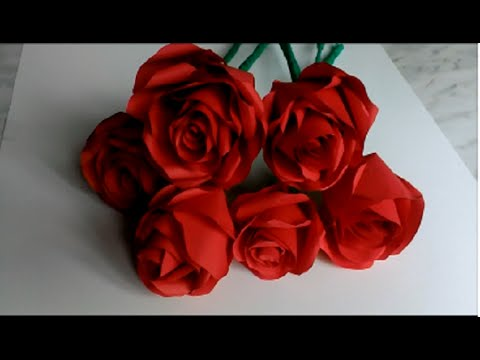 How to make paper roses . Valentines Day, Mother's Day , B-days. DIY paper roses tutorial