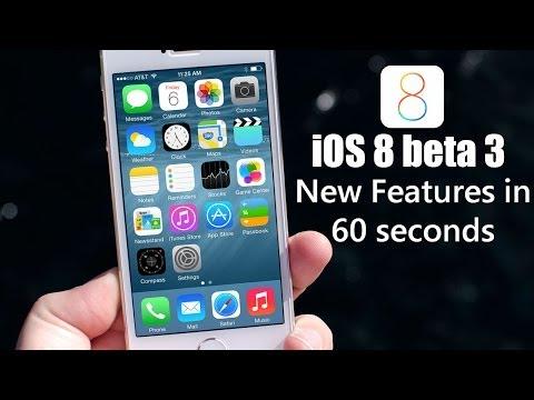 iOS 8 Beta 3 features in 60 seconds
