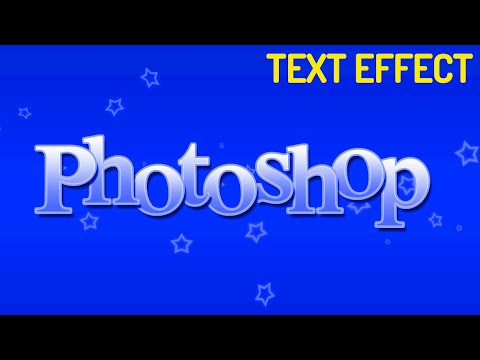 Create Simple Styled Text Effect with Stars in Photoshop  CC, CS6