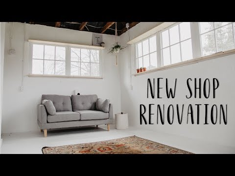 Convert A Dairy Barn Into a Wood Shop / Office / Studio   EP: 2 Painting Wiring & Shelves