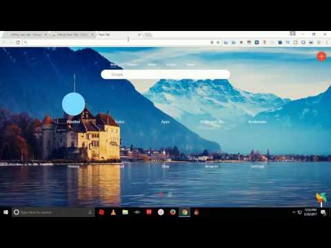 How to change background of google homepage