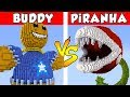 KICK THE BUDDY Vs PiRANHA PLANT PvZ Vs Minecraft Vs Smash