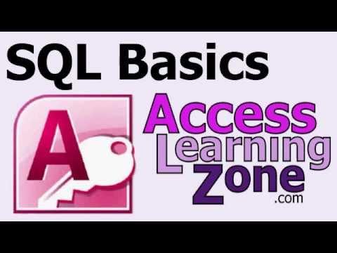 Microsoft Access SQL Basics