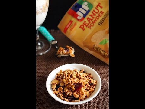 How to make a peanut butter granola at home.